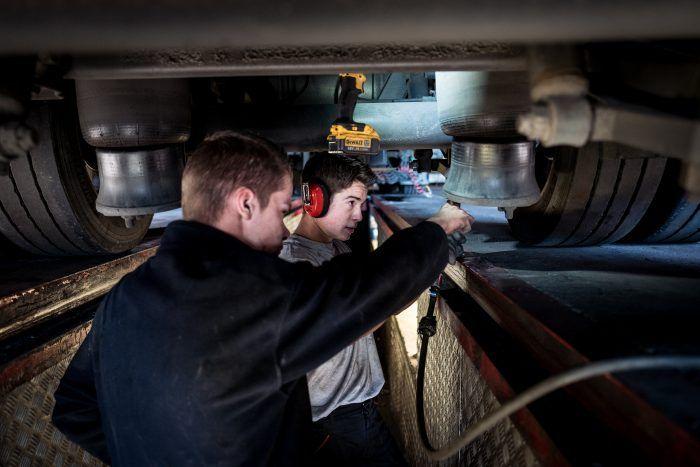 Maintenance de nos véhicules dans les ateliers Transports Cordier