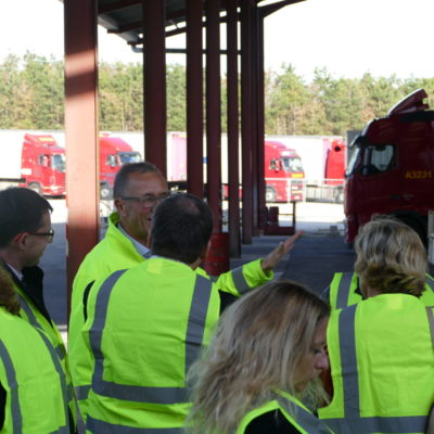 Inauguration des journées du transport routier en Bourgogne-Franche-Comté chez les Transports Cordier