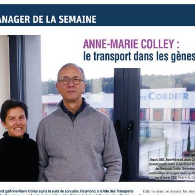 Zoom sur les Transports Cordier – Le manager de la semaine
