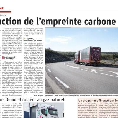 Les actions des Transports Cordier pour réduire leur empreinte carbone | Le Bien Public