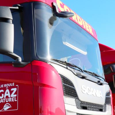 Deux premiers camions à gaz chez Transports Cordier