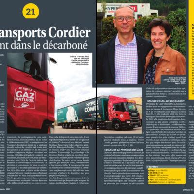 Les Transports Cordier accélèrent dans le décarboné – L'Officiel des Transporteurs