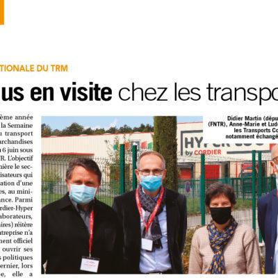 [Médias] Des élus en visite chez les transporteurs – L'officiel des transporteurs